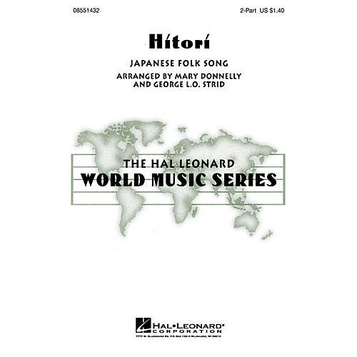 Hal Leonard Hitori 2-Part arranged by George L.O. Strid