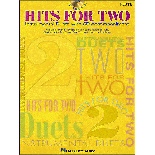 Hal Leonard Hits for Two (Instrumental Duets) for Flute Book/CD Pkg