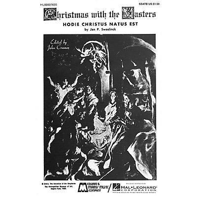 Edward B. Marks Music Company Hodie Christus natus est SSATB A Cappella composed by Jan Pieterszoon Sweelinck