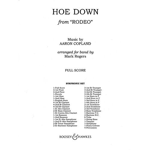 Boosey and Hawkes Hoe Down (Full Score) Concert Band Composed by Aaron Copland Arranged by Quincy C. Hilliard