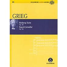 Eulenburg Holberg Suite Op. 40 / Sigurd Jorsalfar Op. 56 Eulenberg Audio plus Score W/ CD by Grieg Edited by Horton