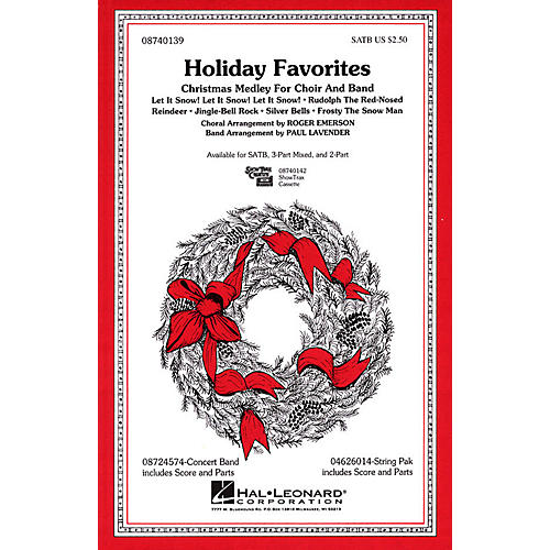 Hal Leonard Holiday Favorites (Medley) SATB arranged by Roger Emerson