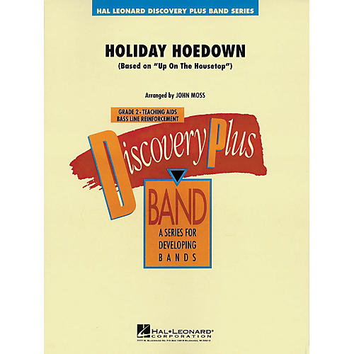 Hal Leonard Holiday Hoedown - Discovery Plus Concert Band Series Level 2 arranged by John Moss