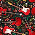Hal Leonard Holiday Red Guitars Premium Gift Wrapping Paper thumbnail