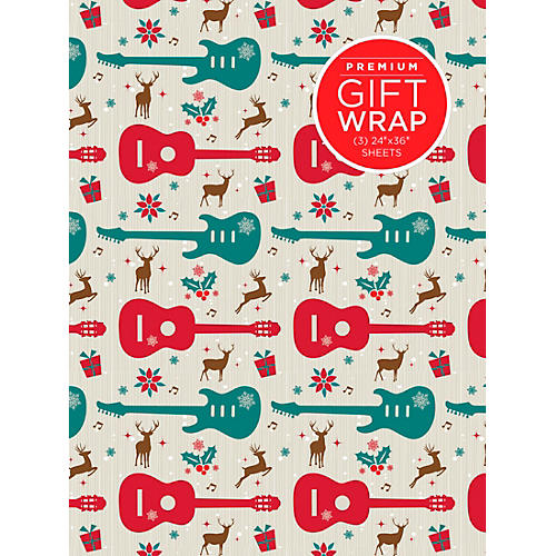 Hal Leonard Holiday Reindeer Guitar Premiun Gift Wrapping Paper