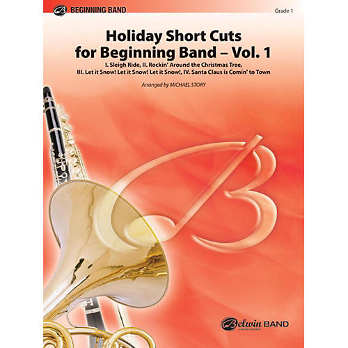 Alfred Holiday Short Cuts for Beginning Band Vol. 1 Concert Band Grade 1
