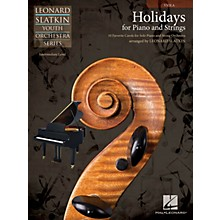 Hal Leonard Holidays for Piano and Strings (Volume 1 - Viola) Easy Music For Strings Series by Leonard Slatkin