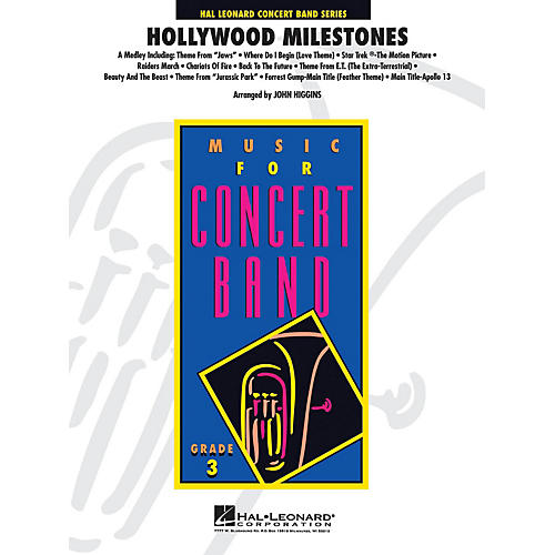 Hal Leonard Hollywood Milestones - Young Concert Band Series Level 3 arranged by John Higgins