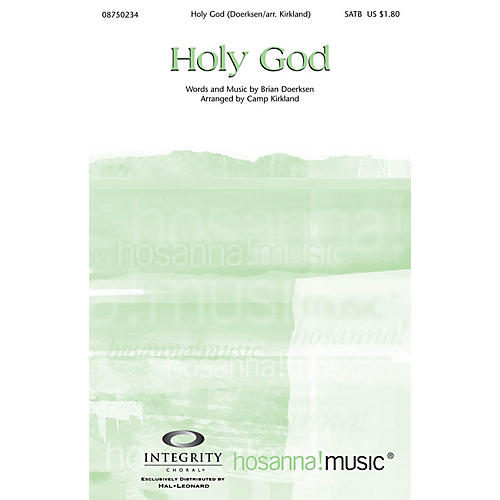 Integrity Choral Holy God CD ACCOMP by Brian Doerksen Arranged by Camp Kirkland