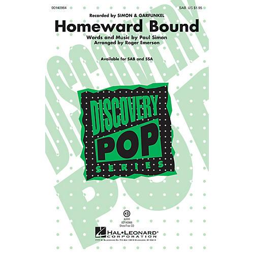 Hal Leonard Homeward Bound SAB by Simon & Garfunkel arranged by Roger Emerson