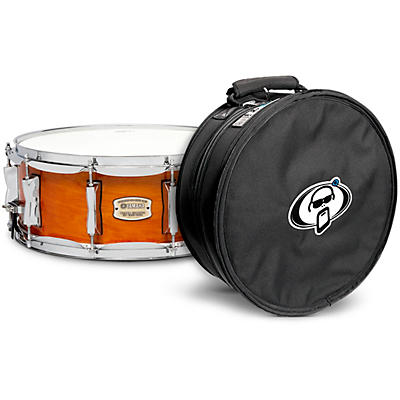 Yamaha Honey Amber Stage Custom Birch Snare with Protection Racket Case