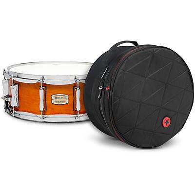 Yamaha Honey Amber Stage Custom Birch Snare with Road Runner Bag