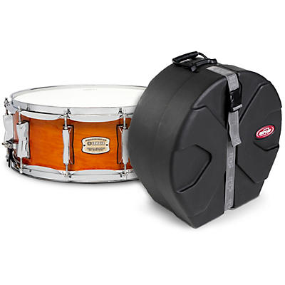 Yamaha Honey Amber Stage Custom Birch Snare with SKB Case