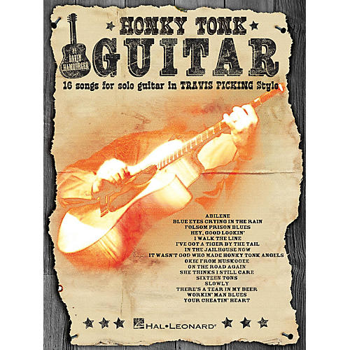 Hal Leonard Honky Tonk Guitar (16 Songs for Solo Guitar in Travis Picking Style) Guitar Solo Series Softcover