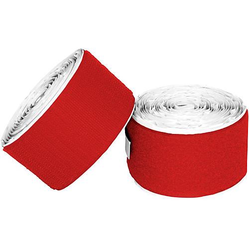Pedaltrain Hook Loop Love Hook-and-Loop Tape Pack Bright Red