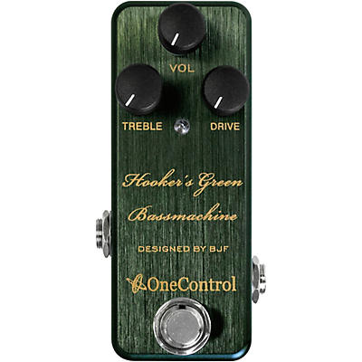 One Control Hooker's Green Bassmachine Overdrive Effects Pedal