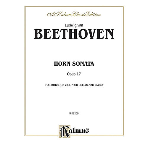 Alfred Horn Sonata Op. 17 for French Horn By Ludwig van Beethoven Book