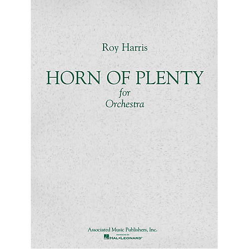 Associated Horn of Plenty (1964) (Study Score) Study Score Series Composed by Roy Harris