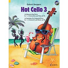 Schott Hot Cello 3 (18 Advanced Pop Pieces) Cello and Piano Book/CD