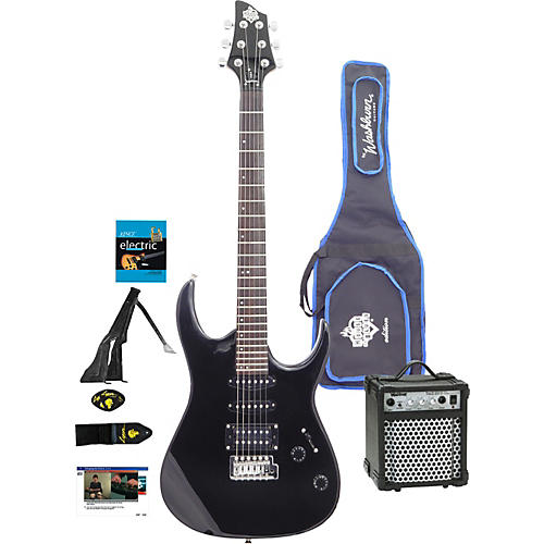 washburn house of blues electric guitar package musician 39 s friend. Black Bedroom Furniture Sets. Home Design Ideas