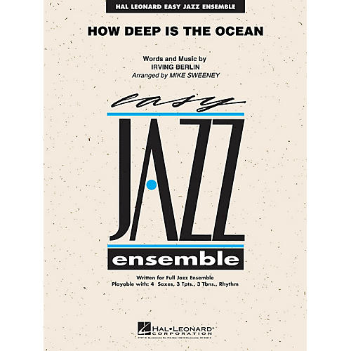 Hal Leonard How Deep is the Ocean Jazz Band Level 2 Arranged by Michael Sweeney