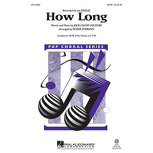 Hal Leonard How Long SATB arranged by Roger Emerson