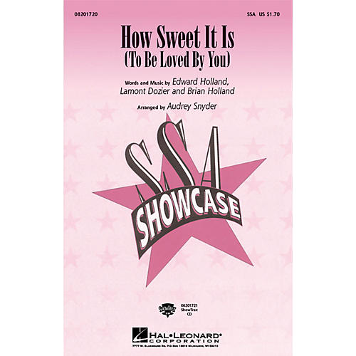 Hal Leonard How Sweet It Is (To Be Loved by You) ShowTrax CD by James Taylor Arranged by Audrey Snyder