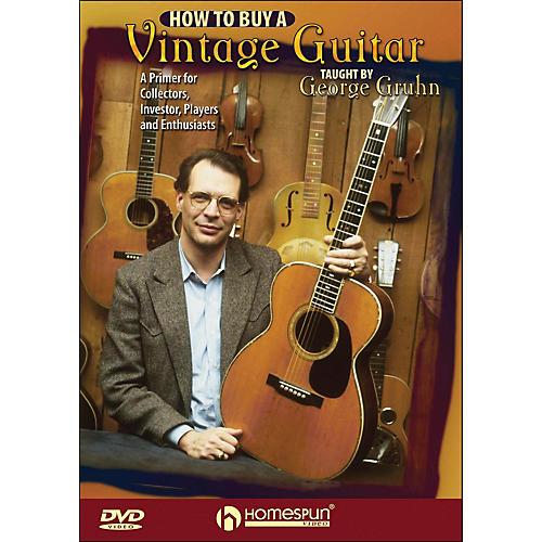 Homespun How To Buy A Vintage Guitar - By George Gruhn DVD