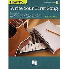 Hal Leonard How To Write Your First Song (Book/Online Audio)