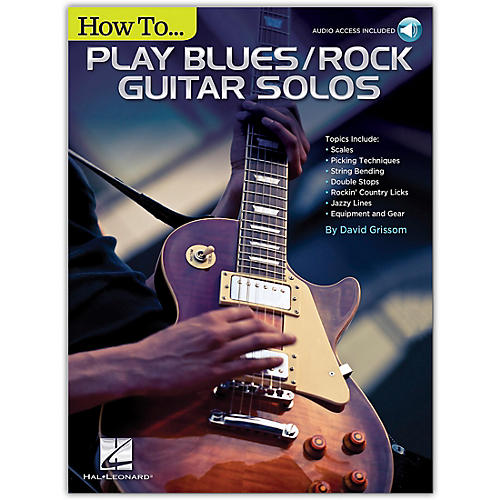 Hal Leonard How to Play Blues/Rock Guitar Solos Book/Audio Online