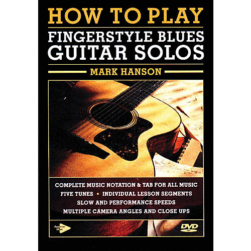 Music Sales How to Play Fingerstyle Blues Guitar Solos Music Sales America Series DVD Written by Mark Hanson