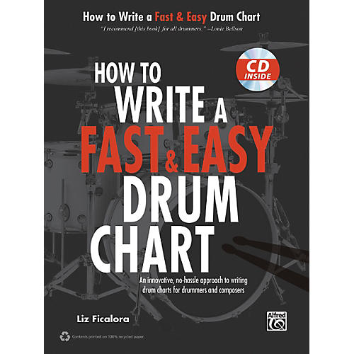 Alfred How to Write a Fast & Easy Drum Chart (Book/CD)
