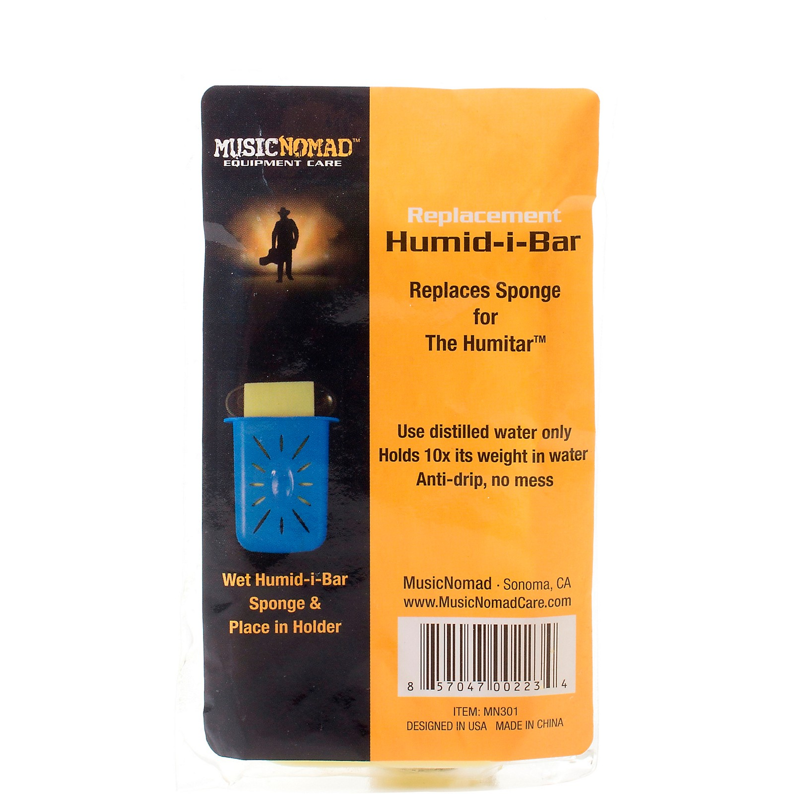 MusicNomad Humid-i-Bar Replacement Sponge for the Humitar Humidifier