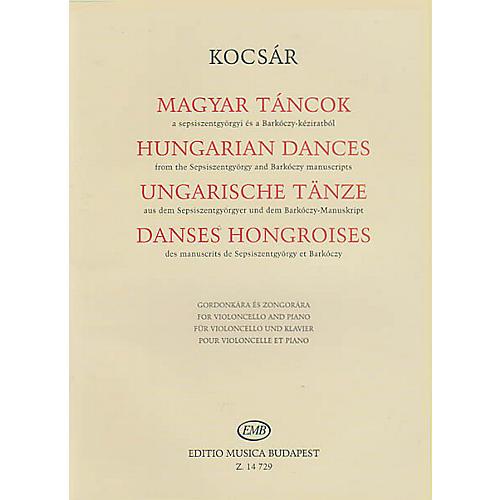 Editio Musica Budapest Hungarian Dances (Violoncello and Piano) EMB Series Softcover Composed by Miklós Kocsár