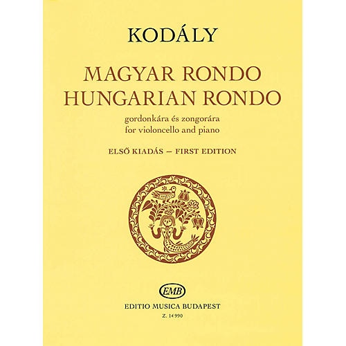 Editio Musica Budapest Hungarian Rondo (for Cello and Piano) EMB Series Softcover