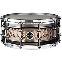 Hybrid Hand Hammered Steel Snare Drum 14 x 7 in. Black Nickel