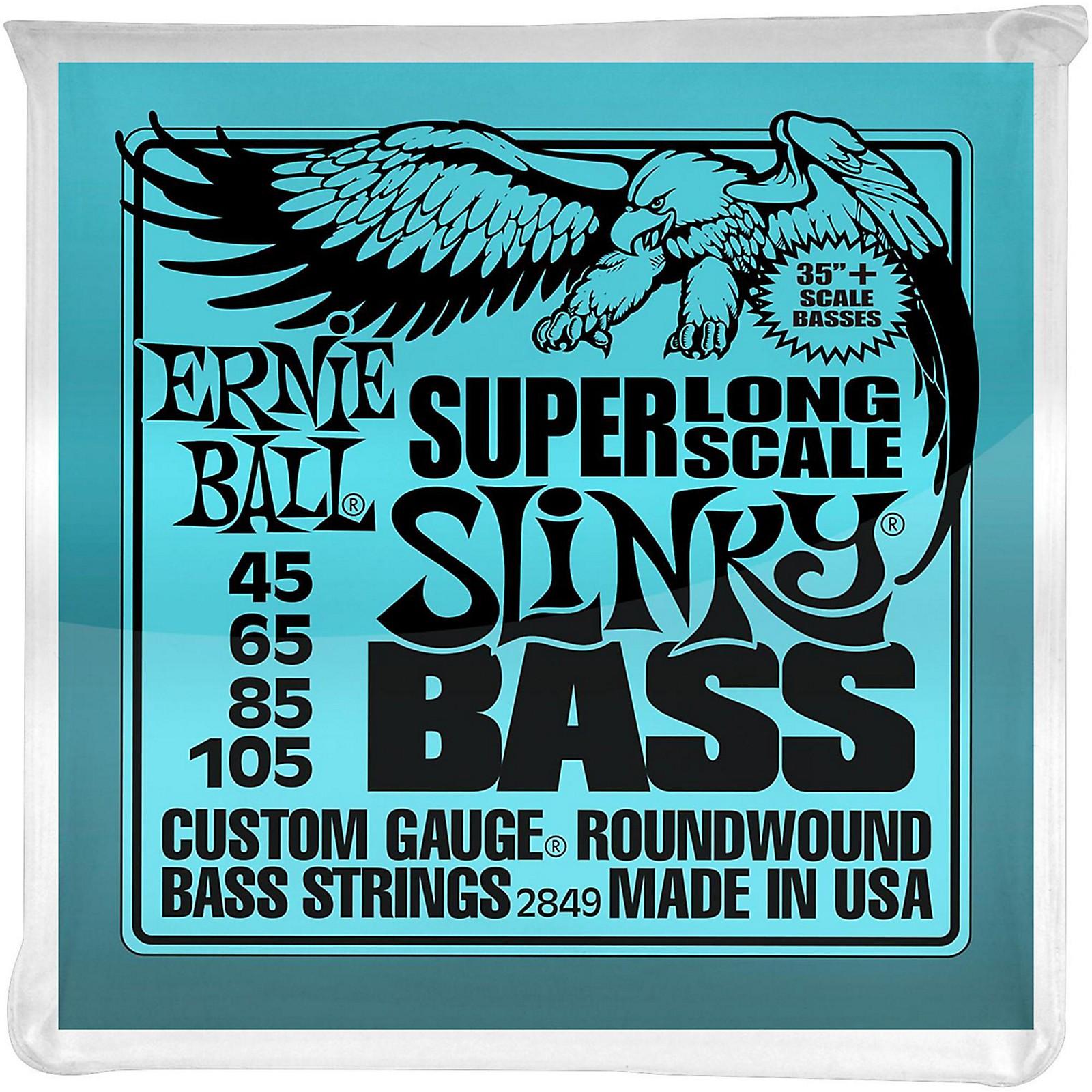 Ernie Ball Hybrid Slinky Bass Strings Super Long Scale