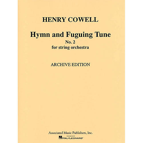 G. Schirmer Hymn & Fuguing Tune No 2 Str Orch  Score Misc Series