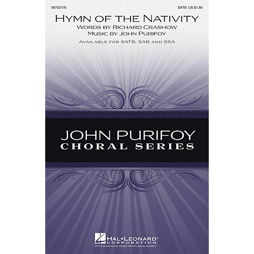 Hal Leonard Hymn of the Nativity SATB composed by John Purifoy