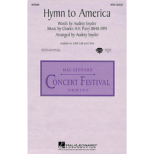 Hal Leonard Hymn to America 2-Part Arranged by Audrey Snyder