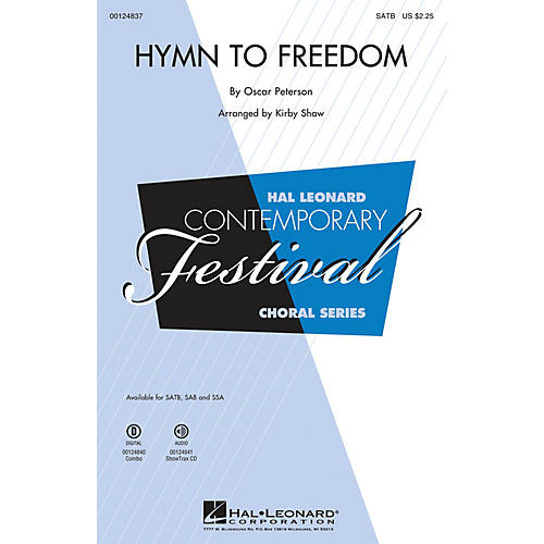 Hal Leonard Hymn to Freedom COMBO ACCOMPANIMENT PARTS Arranged by Kirby Shaw
