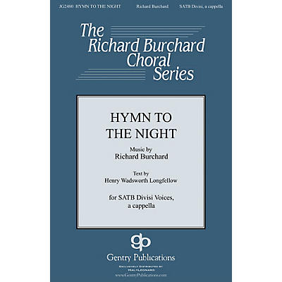 Gentry Publications Hymn to the Night SATB DV A Cappella composed by Richard Burchard