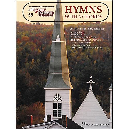 Hal Leonard Hymns With 3 Chords E-Z Play 65