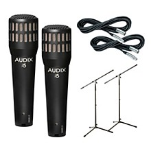 Audix I-5 Mic with Cable and Stand 2 Pack