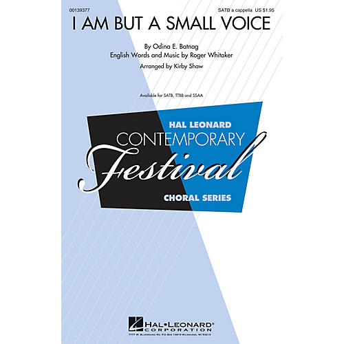 Hal Leonard I Am But a Small Voice SATB a cappella arranged by Kirby Shaw