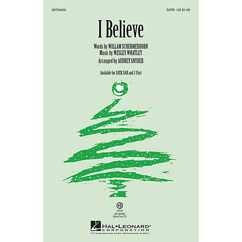 Hal Leonard I Believe 2-Part Arranged by Audrey Snyder