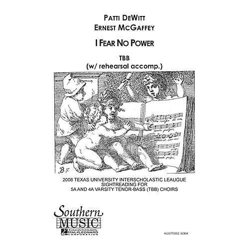 Hal Leonard I Fear No Power (Choral Music/Octavo Sacred Tbb) TBB Composed by Dewitt, Patti