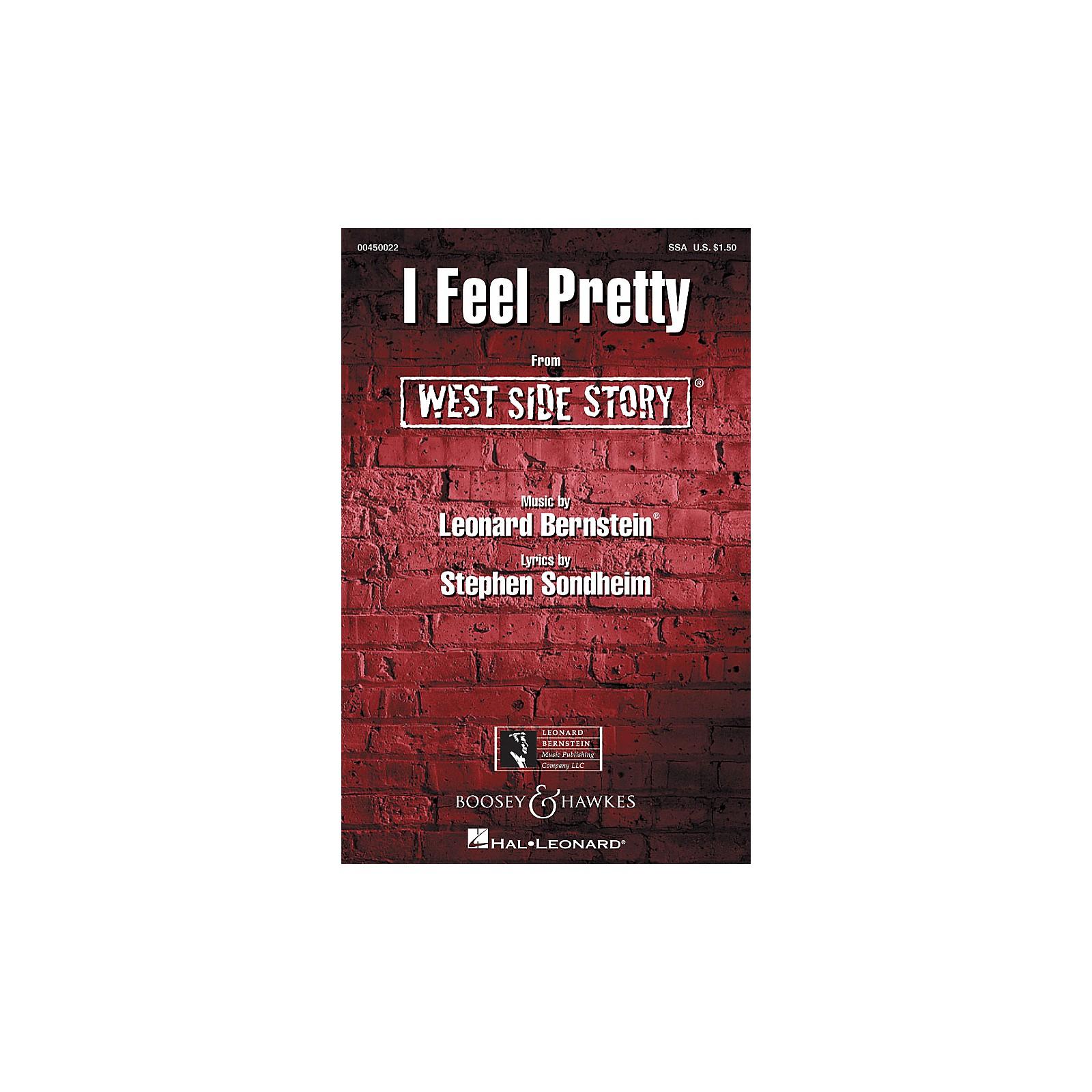 Leonard Bernstein Music I Feel Pretty (from West Side Story) (SSA) SSA Arranged by William Stickles