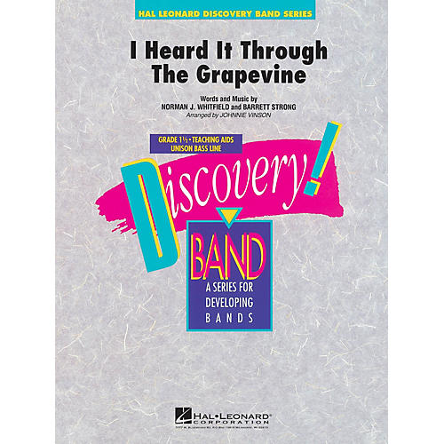 Hal Leonard I Heard It Through the Grapevine Concert Band Level 1 1/2 Arranged by Johnnie Vinson
