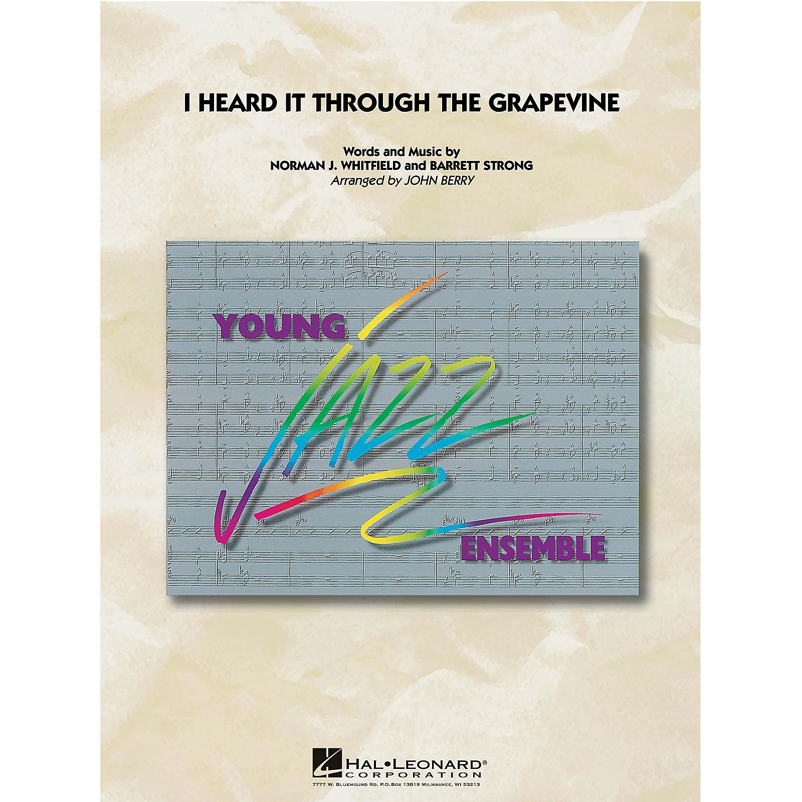 Hal Leonard I Heard It Through the Grapevine Jazz Band Level 3 by Marvin Gaye Arranged by John Berry